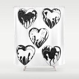 My Heart, My Horse Shower Curtain