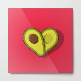 Avocado Love Metal Print