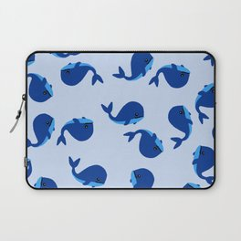 BABY WHALES IN BLUE Laptop Sleeve