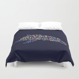 Abstract Dolphin Duvet Cover
