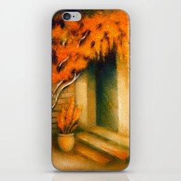 Terrace in the Light - Mediterranean Paintings iPhone Skin