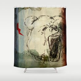 Don't Feed the Bears Lightning Shower Curtain