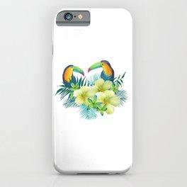 Tropical toucans iPhone Case