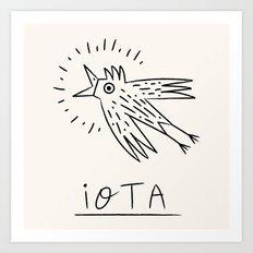 The iOTA Bird Art Print