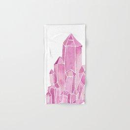 Rose Quartz Watercolor Hand & Bath Towel