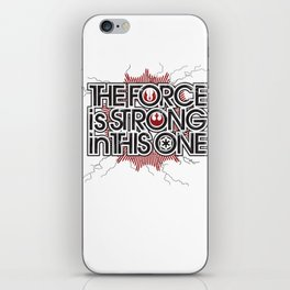 The Force is strong in this one iPhone Skin