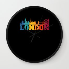 London Retro Skyline UK Wall Clock