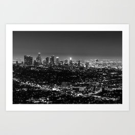 Black and White Los Angeles Art Print