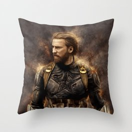 Steve Nomad Rogers Throw Pillow
