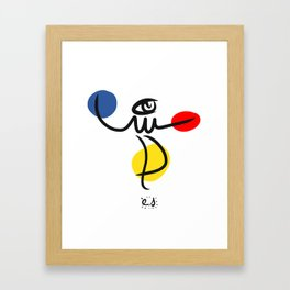 The Juggler of Life Minimal Art Design Framed Art Print