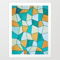 square Art Prints featuring Square by sinonelineman