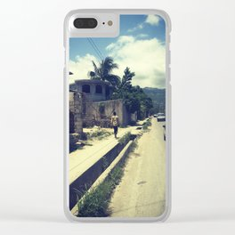 Haiti: where are you going Clear iPhone Case