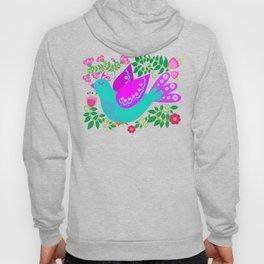 Folk Art Birdies - Bright, happy, colorful birds! Hoody