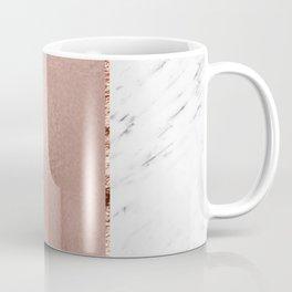 Rose metallic striping - marble and onyx Coffee Mug