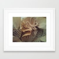 literature Framed Art Prints featuring Literature by Genevieve Moye