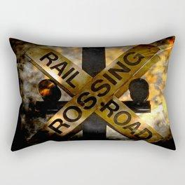 Railroad Crossing Rectangular Pillow