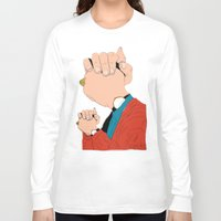 will graham Long Sleeve T-shirts featuring Knuckle Head II - Graham by RUMOKO x Vintage Cheddar