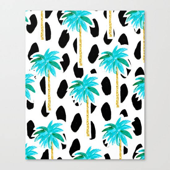 Palm Trees and Dots Canvas Print