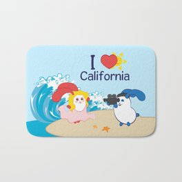 Ernest and Coraline | I love California Bath Mat