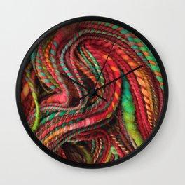 Pecos Valley - Handspun Coiled Yarn Wall Clock