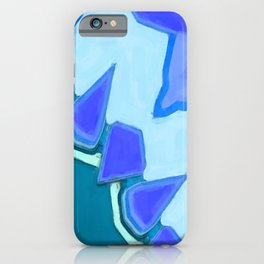 Jagged Tooth Teal iPhone Case