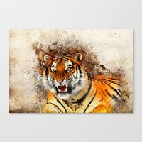 fierce Canvas Prints featuring Fierce by Robin Curtiss