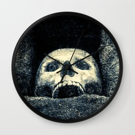 Old Human Skull In A Pagan Temple Wall Clock