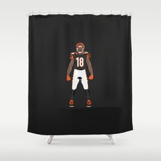 Who Dey? - A.J. Green Shower Curtain