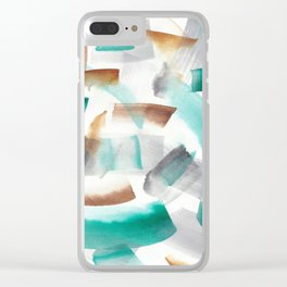 180719 Koh-I-Noor Watercolour Abstract 32  Watercolor Brush Strokes Clear iPhone Case
