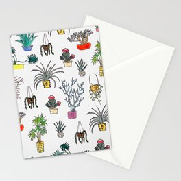 Houseplants Stationery Cards