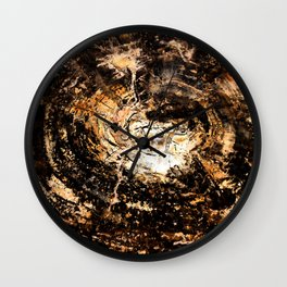 Petrified Tree Rings II Wall Clock