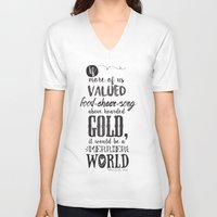 tolkien V-neck T-shirts featuring Tolkien quote by Pau Ricart