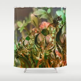 Natural and fractal seedlings Shower Curtain