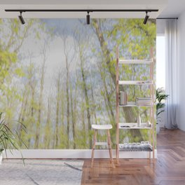Colorful trees photography - Watercolor series #2 Wall Mural