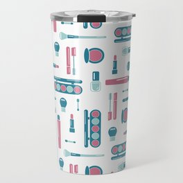 Cosmetic Items Repeating Pattern Travel Mug