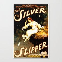 Vintage Sliver Slipper Theater Poster Canvas Print