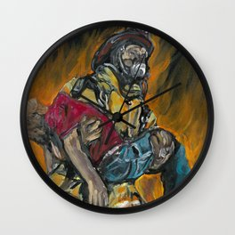 Fire Fighting. Wall Clock