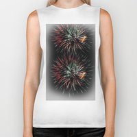 fireworks Biker Tanks featuring Fireworks by Carlo Toffolo
