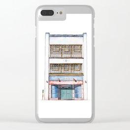 San Francisco Storefront Watercolor Illustration - Pinterest HQ Clear iPhone Case