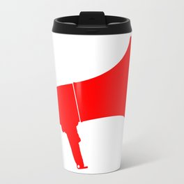 Red Isolated Megaphone Travel Mug