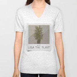LISA THE PLANT IS DEAD Unisex V-Neck