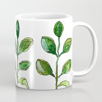 succulents Mugs featuring Succulents by Gosia&Helena