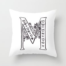 M is for Throw Pillow