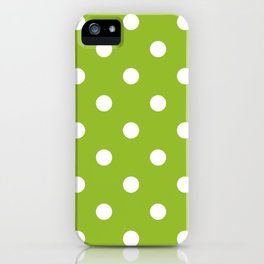 Apple green dotted seamless pattern iPhone Case