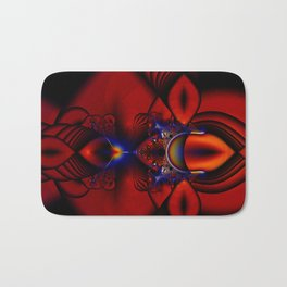 Ruby Abstract Stained Glass Window Bath Mat