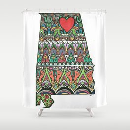 I Heart Huntsville Shower Curtain