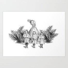 The Volcano Art Print