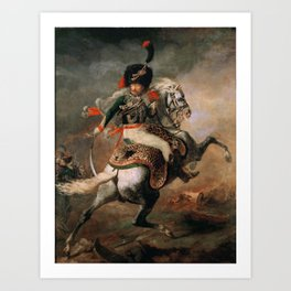 An Officer of the Imperial Horse Guards Charging Art Print