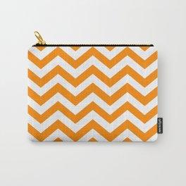 Orange Chevron Pattern Carry-All Pouch