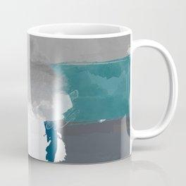 Abstract Grey & Blue Coffee Mug